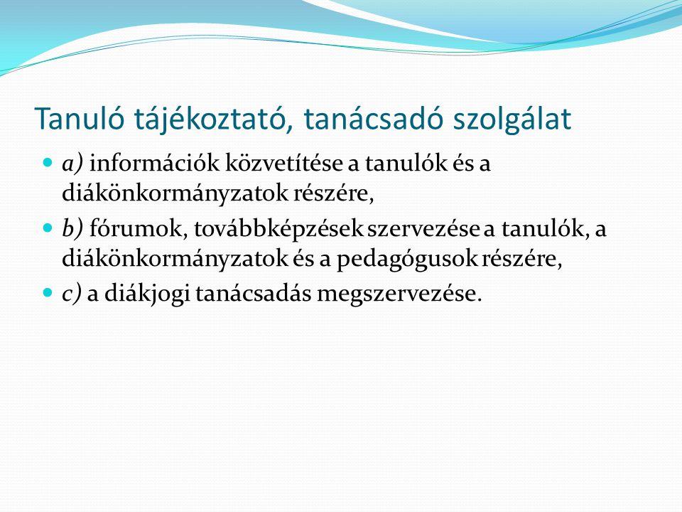 Tanuló tájékoztató, tanácsadó szolgálat