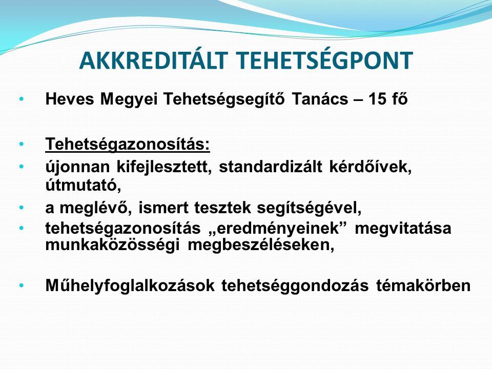 AKKREDITÁLT TEHETSÉGPONT