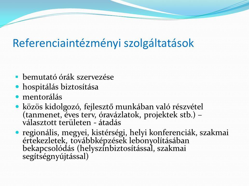 Referenciaintézményi szolgáltatások