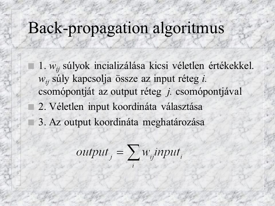 Back-propagation algoritmus