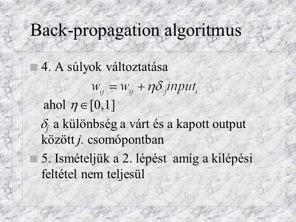 Back-propagation algoritmus