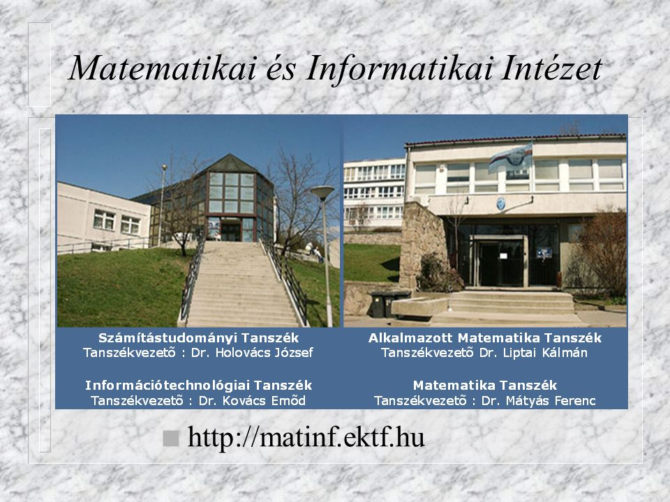 Matematikai és Informatikai Intézet