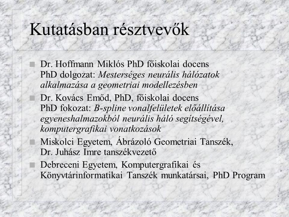 Kutatásban résztvevők