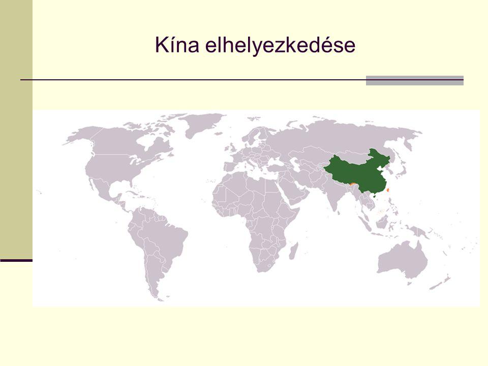 Kína elhelyezkedése