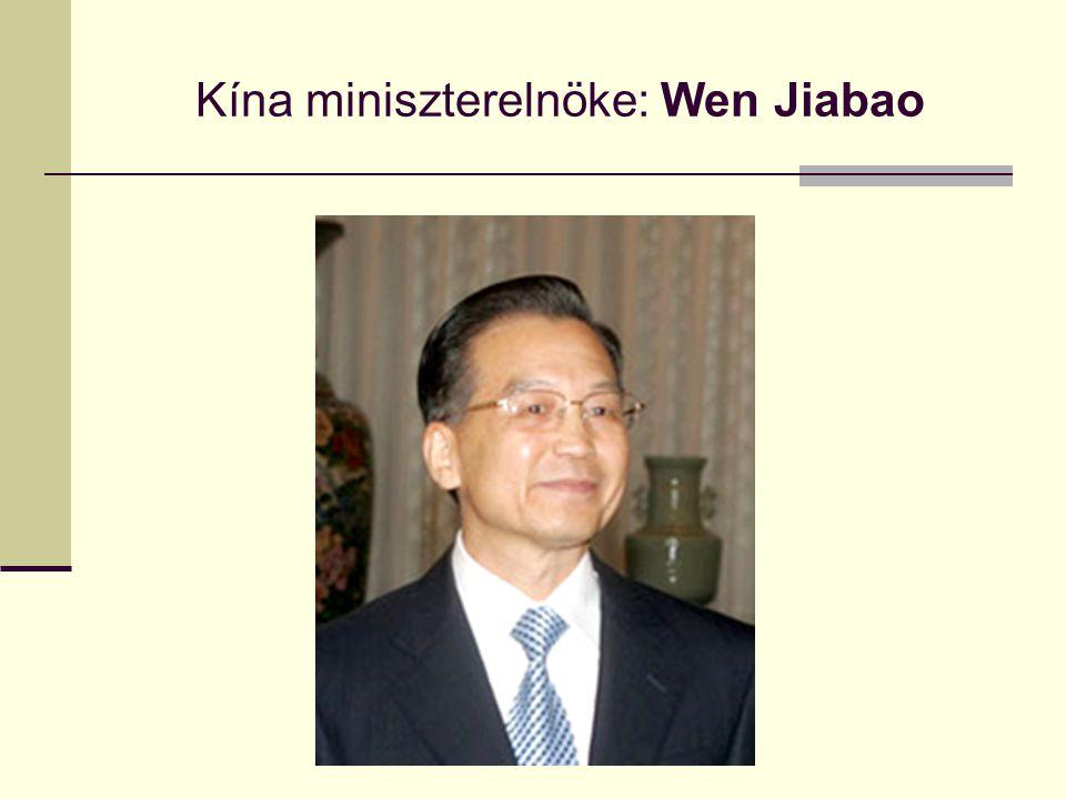 Kína miniszterelnöke: Wen Jiabao