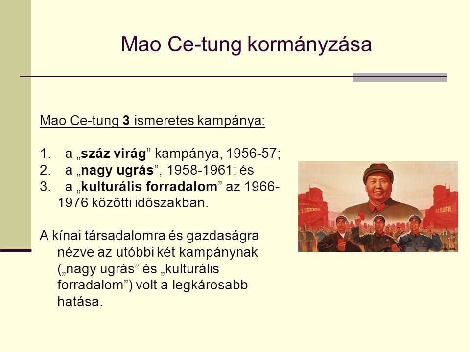 Mao Ce-tung kormányzása