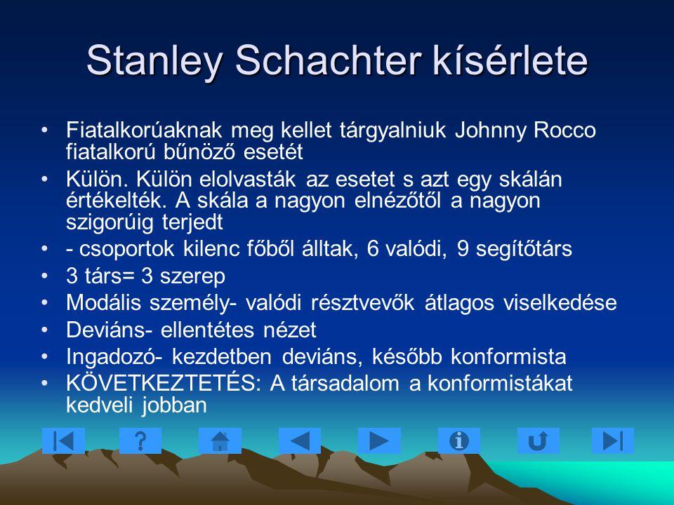 Stanley Schachter kísérlete