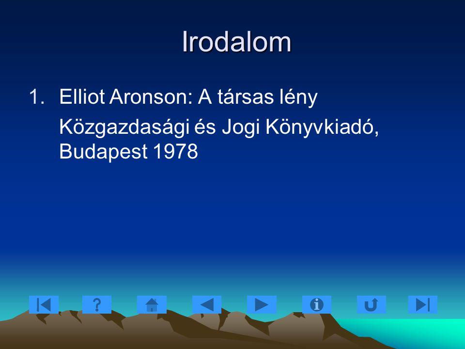 Irodalom Elliot Aronson: A társas lény