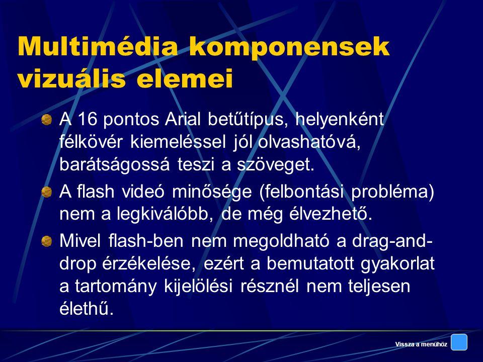 Multimédia komponensek vizuális elemei