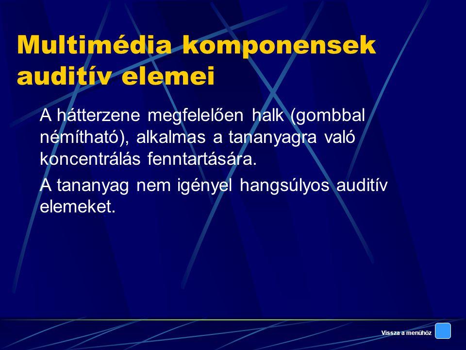 Multimédia komponensek auditív elemei
