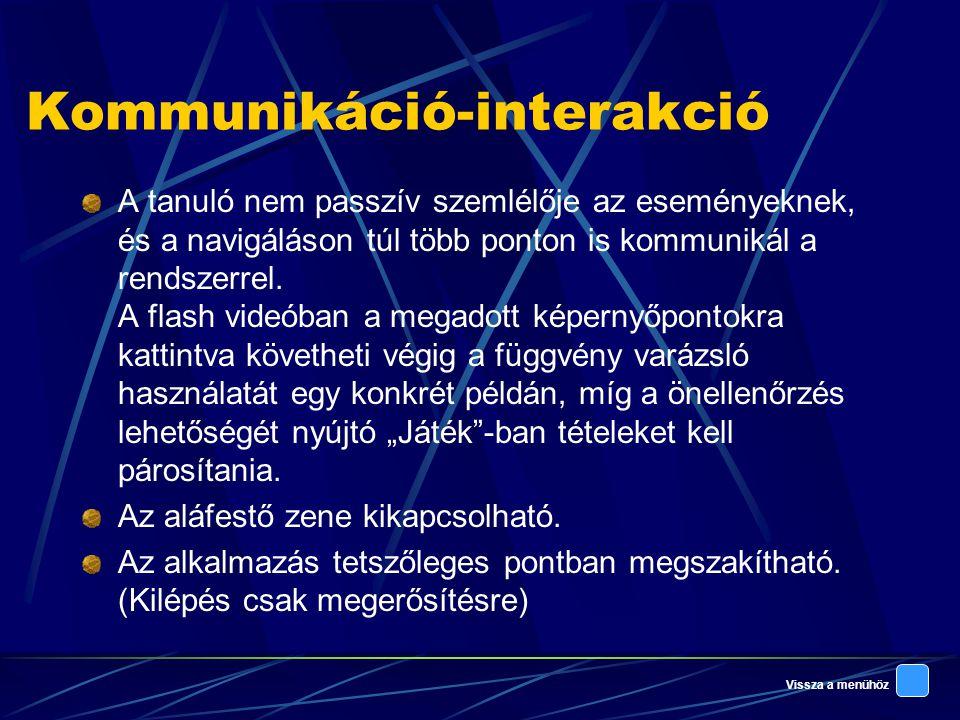 Kommunikáció-interakció
