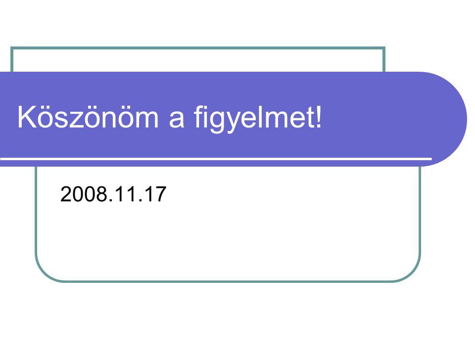 Köszönöm a figyelmet! 2008.11.17