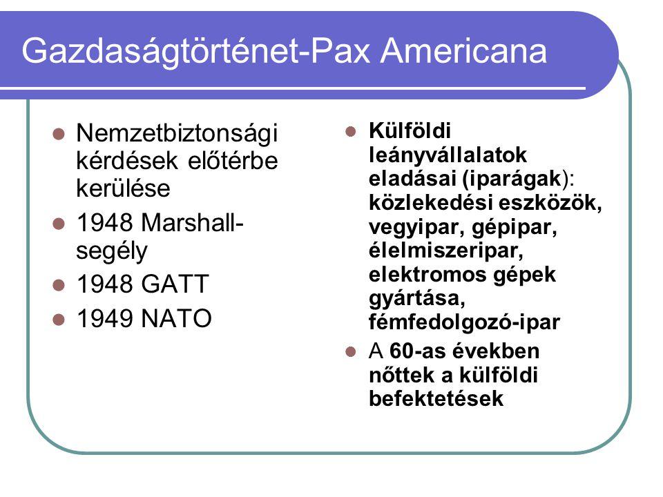 Gazdaságtörténet-Pax Americana