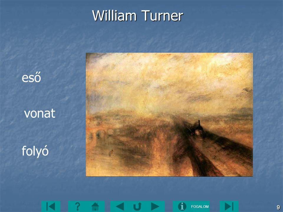 William Turner eső vonat folyó