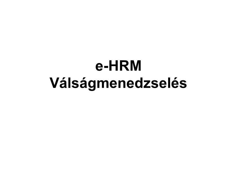e-HRM Válságmenedzselés