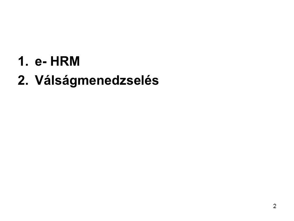 e- HRM Válságmenedzselés