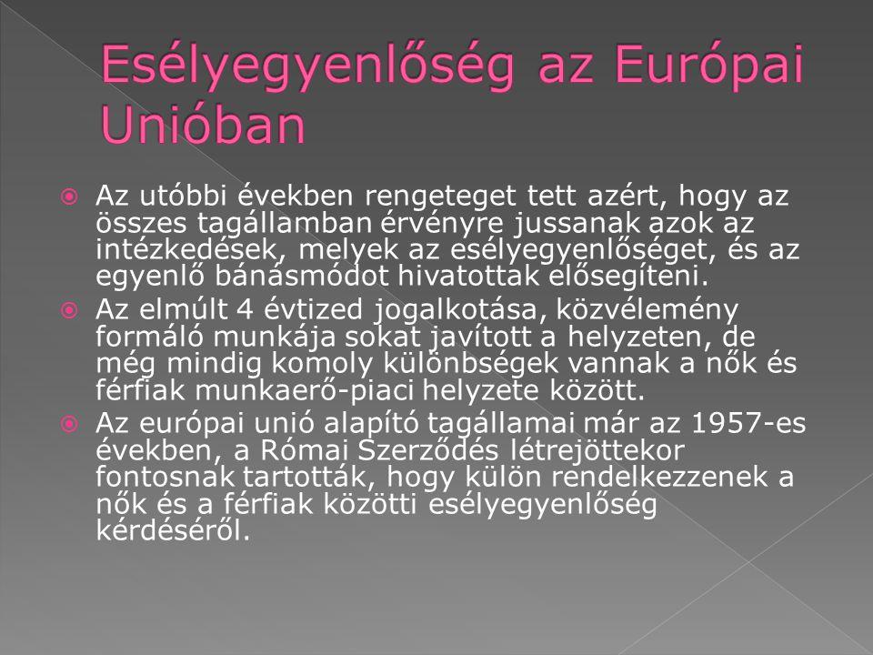 Esélyegyenlőség az Európai Unióban