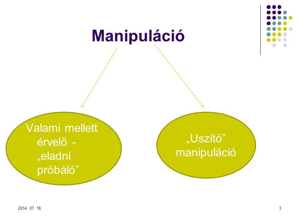 """Manipuláció Valami mellett érvelő - """"eladni próbáló"""