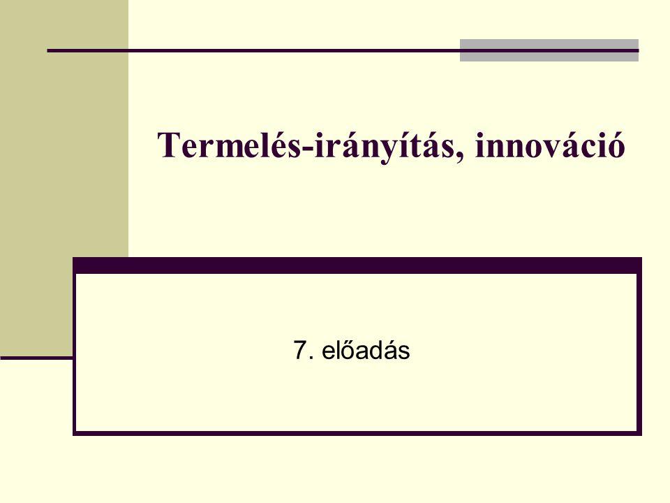 Termelés-irányítás, innováció