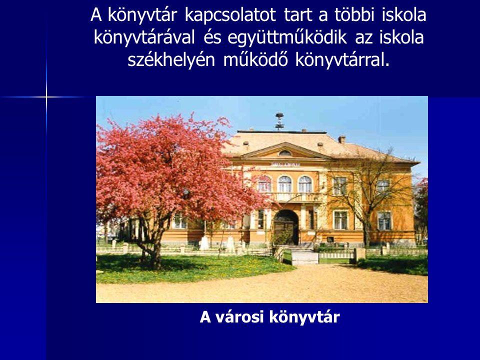 A könyvtár kapcsolatot tart a többi iskola könyvtárával és együttműködik az iskola székhelyén működő könyvtárral.