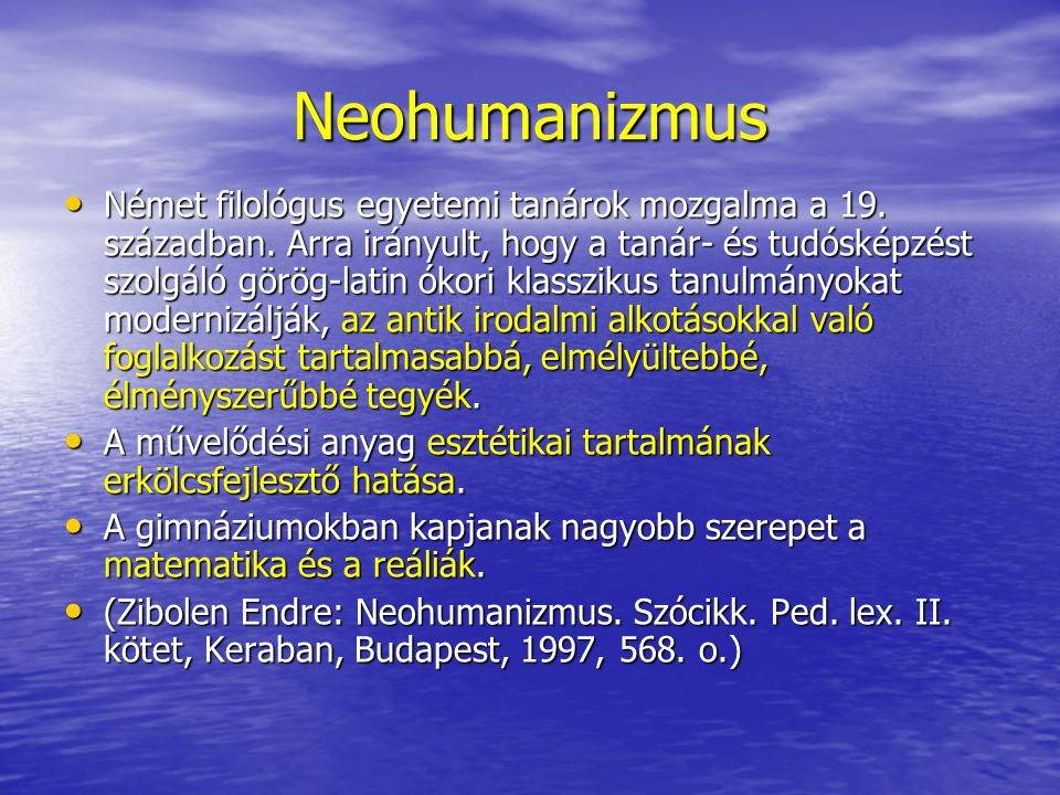 Neohumanizmus