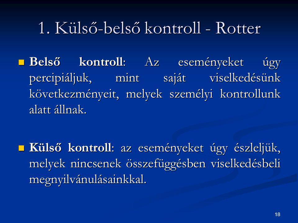 1. Külső-belső kontroll - Rotter