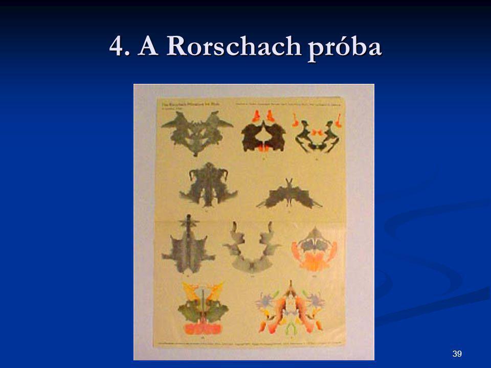 4. A Rorschach próba