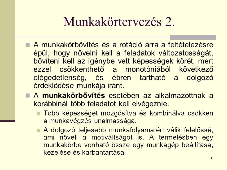Munkakörtervezés 2.