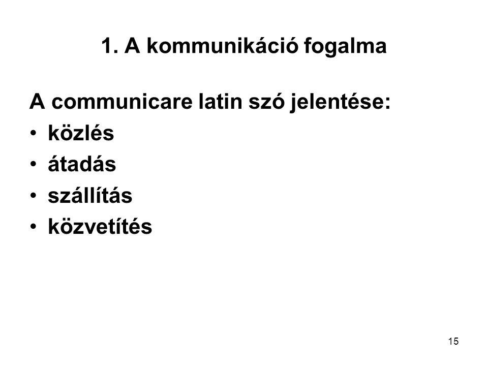 1. A kommunikáció fogalma