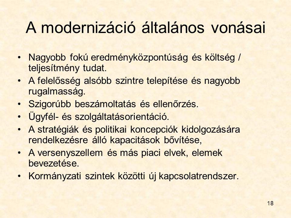 A modernizáció általános vonásai