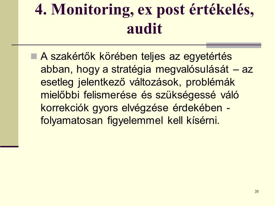 4. Monitoring, ex post értékelés, audit