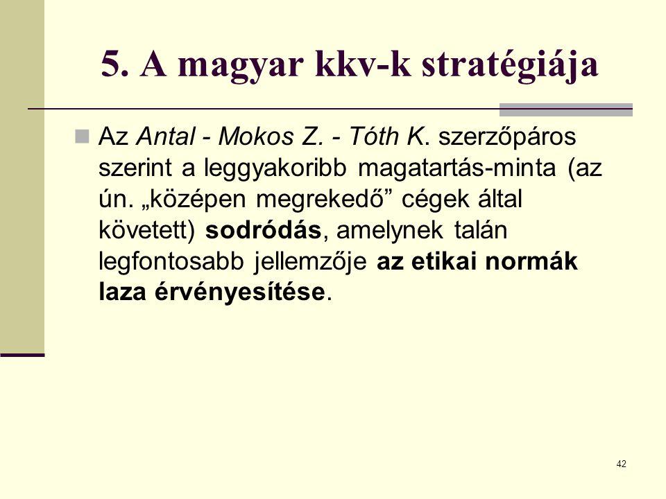 5. A magyar kkv-k stratégiája