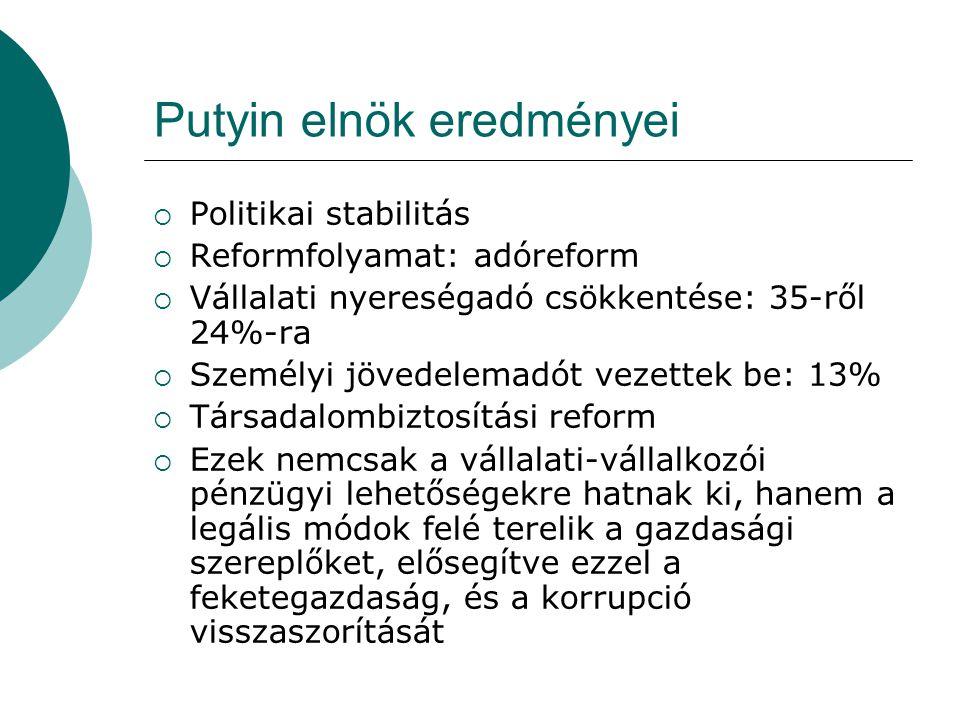 Putyin elnök eredményei