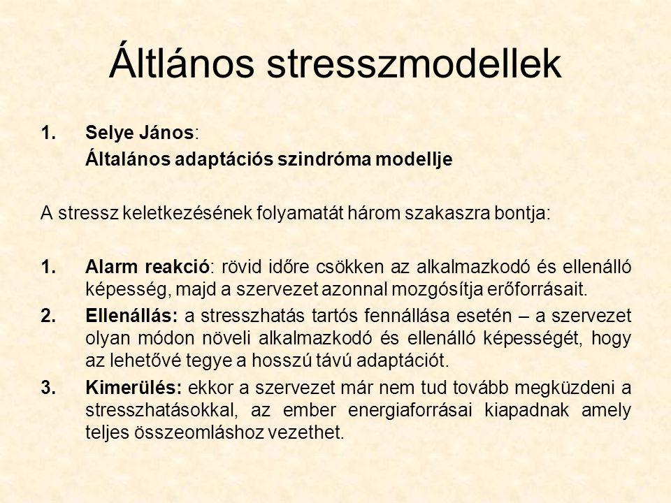Áltlános stresszmodellek