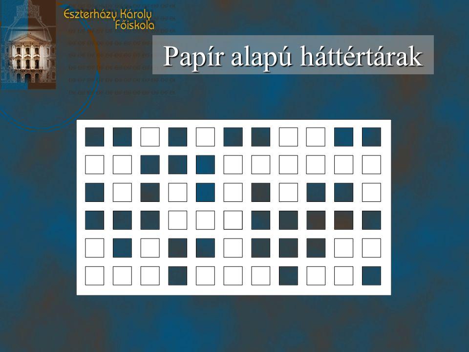 Papír alapú háttértárak