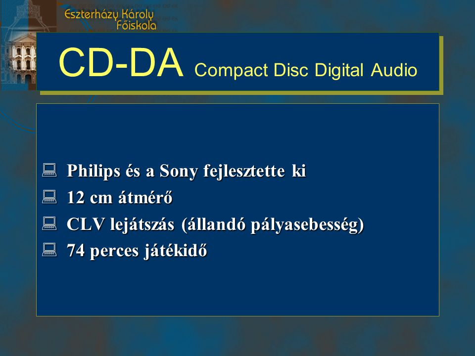 CD-DA Compact Disc Digital Audio