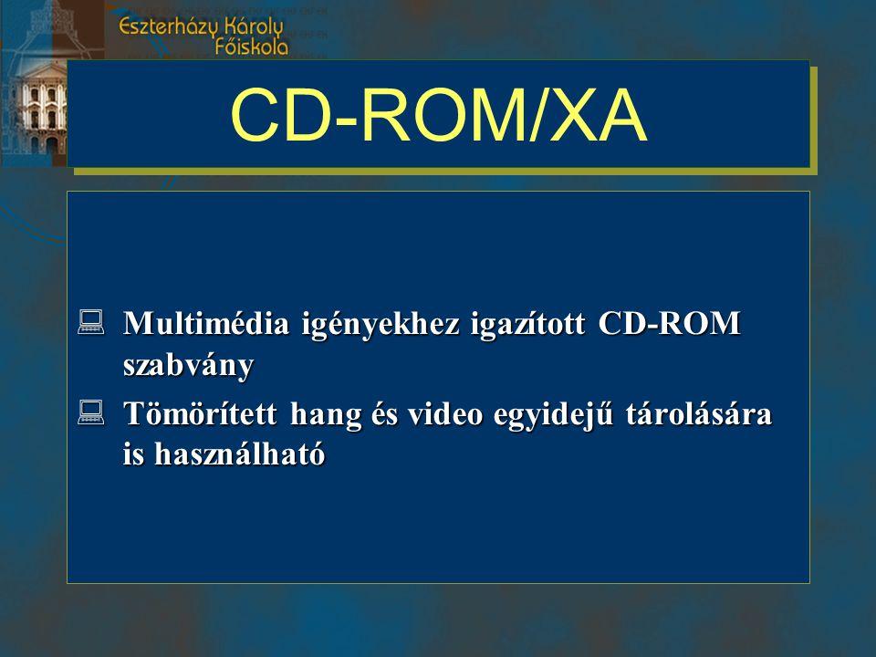 CD-ROM/XA Multimédia igényekhez igazított CD-ROM szabvány