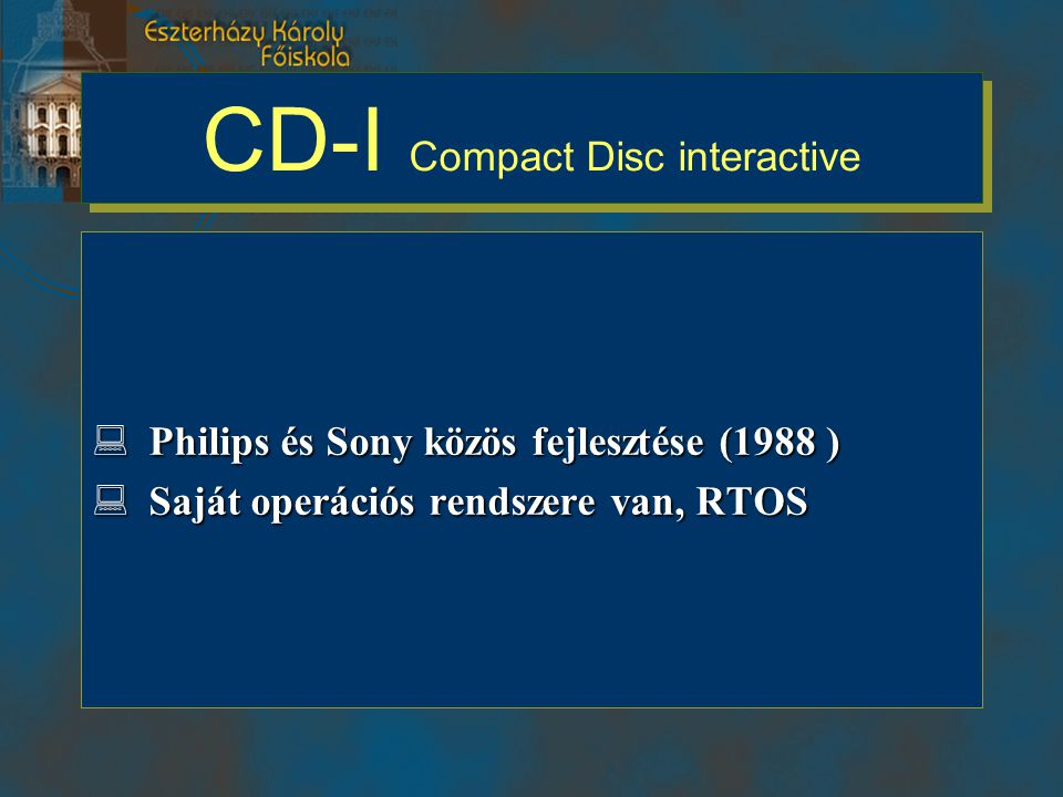 CD-I Compact Disc interactive