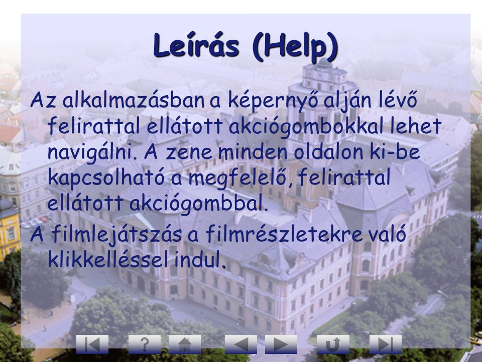 Leírás (Help)