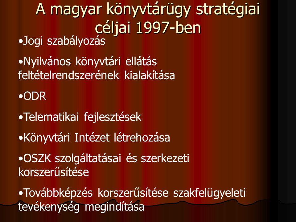 A magyar könyvtárügy stratégiai céljai 1997-ben