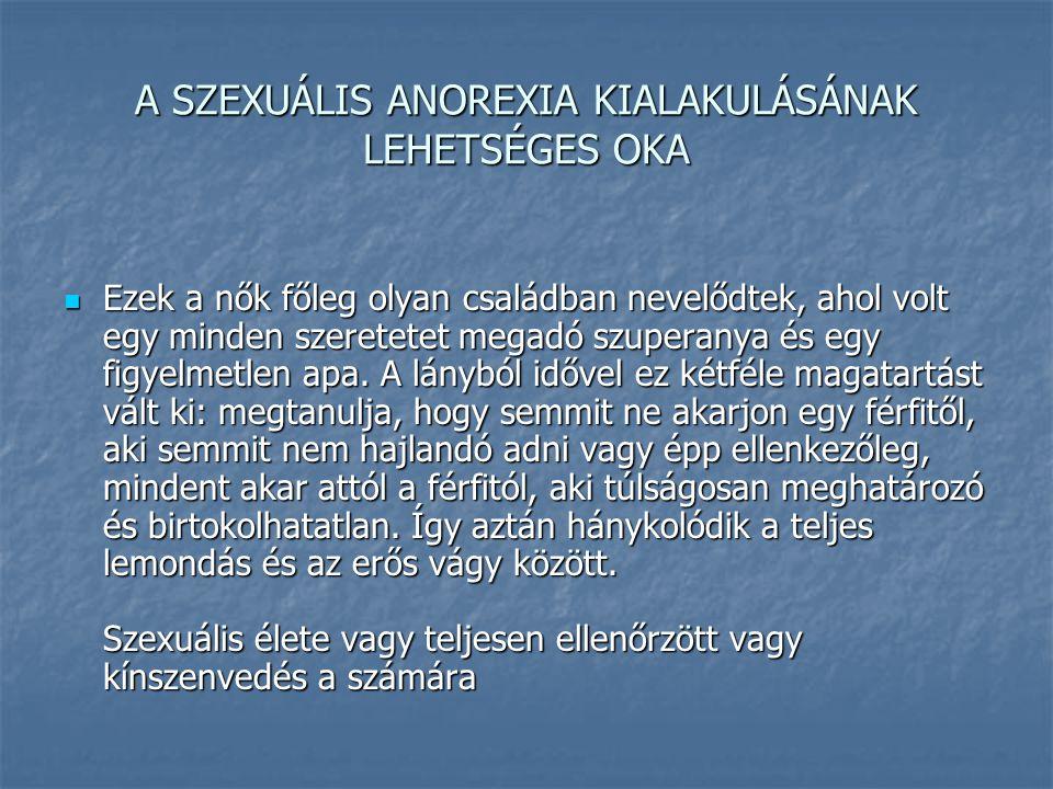 A SZEXUÁLIS ANOREXIA KIALAKULÁSÁNAK LEHETSÉGES OKA