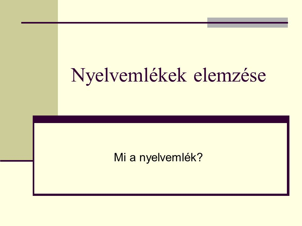 Nyelvemlékek elemzése