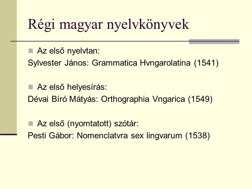 Régi magyar nyelvkönyvek