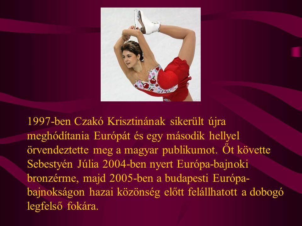1997-ben Czakó Krisztinának sikerült újra meghódítania Európát és egy második hellyel örvendeztette meg a magyar publikumot.
