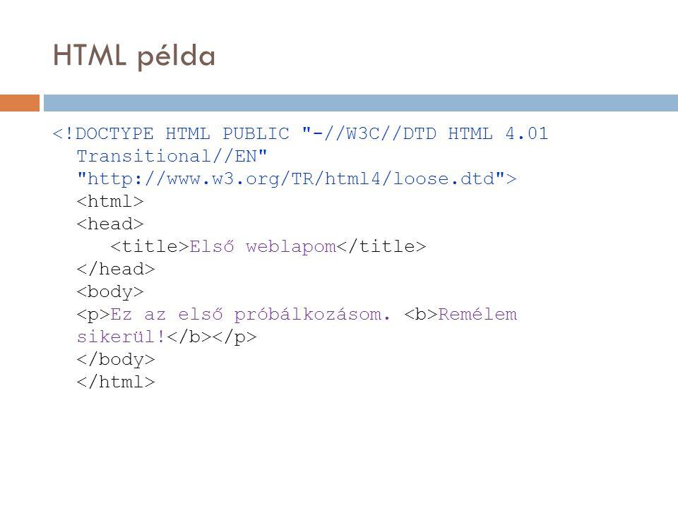 HTML példa