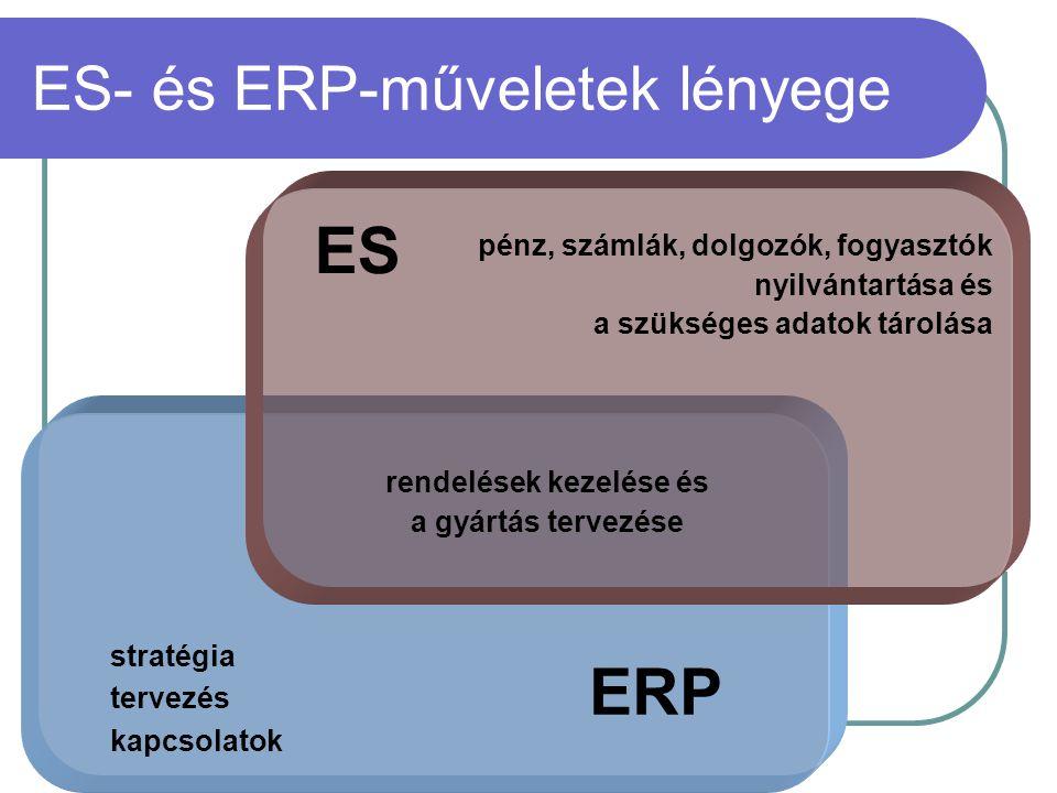ES- és ERP-műveletek lényege