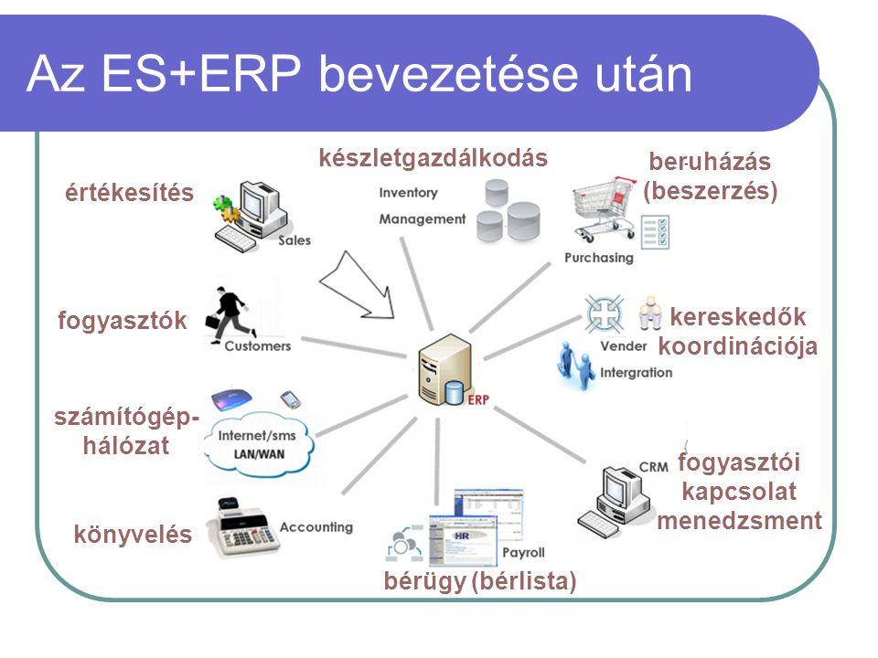 Az ES+ERP bevezetése után