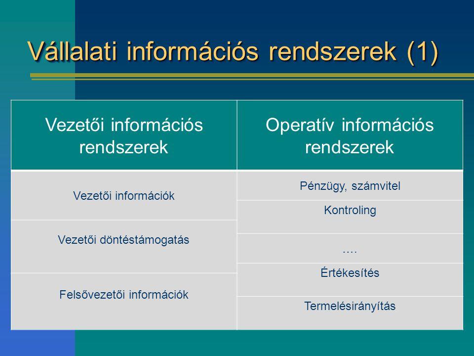 Vállalati információs rendszerek (1)