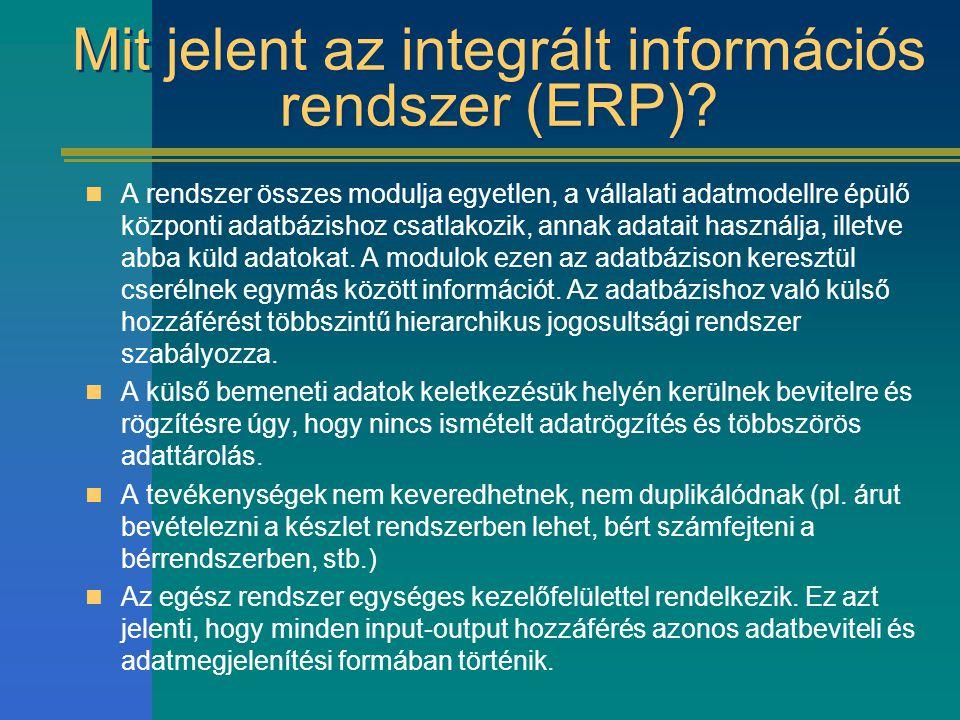 Mit jelent az integrált információs rendszer (ERP)