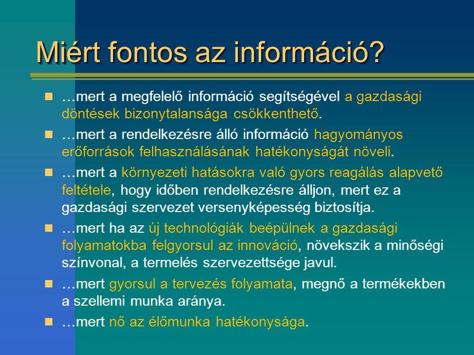 Miért fontos az információ
